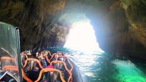 Boat Entering Benagil Cave