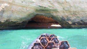The Boat Enters Benagil Cave